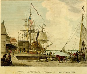 Philadelphia Harbor 1790s (source)
