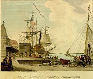 Philadelphia Harbor 1790s (source)