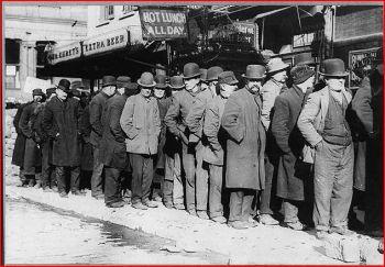 Bread Line, Bowery, NY, c. 1910 (source)