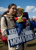 Mother and son from Virginia attend March for Marriage rally in Washington