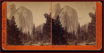Cathedral Rock, Yosemite, c. 1874