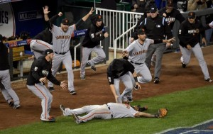 Catch ends Royal's last-minute try to win 2014 World Series